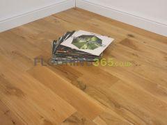Highgate Solid Natural Oak Brushed & Matt Lacquered 123mm x 15mm Wood Flooring
