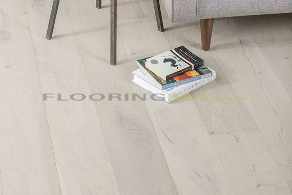 Highgate Engineered White Oak Brushed and Lacquered Click Lok 165mm x 15/4mm Wood Flooring