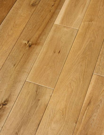 Milano Solid Natural Oak Brushed & Oiled 110mm x 18mm Wood Flooring