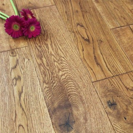 Highgate Engineered Golden Oak Brushed & Lacquered 120mm x 14/3mm Wood Flooring