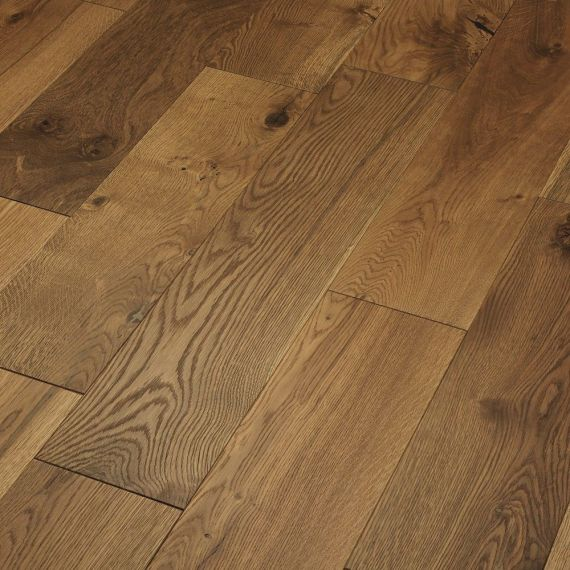Glanwell Engineered Smoked Oak Brushed and Oiled 125mm x 10/3mm Wood Flooring (Wooden Flooring)