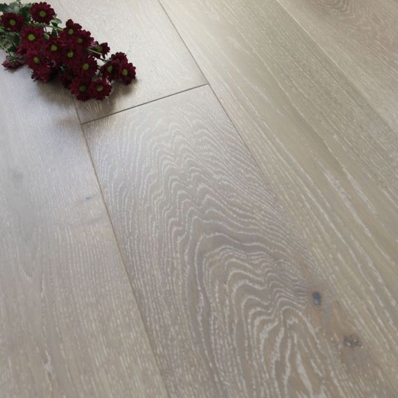 Henley Engineered Grey Whitewashed Oak Matt Lacquered 125mm x 14/3mm Wood Flooring