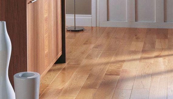 Cressington Engineered Natural Oak Lacquered Click Lok 130mm x 14/2.5mm Wood Flooring (Wooden Flooring)