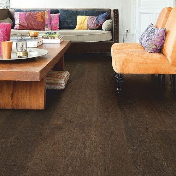 Highgate Solid Coffee Oak Handscraped 130mm x 20mm Wood Flooring