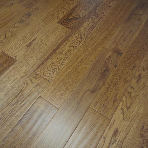 Highgate Solid Golden Oak Handscraped 130mm x 20mm Wood Flooring