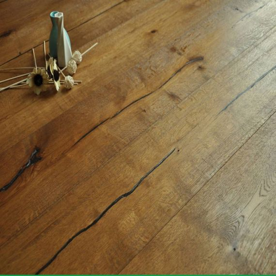 Highgate Engineered Smoked Distressed Oak 190mm x 14/3mm Wood Flooring