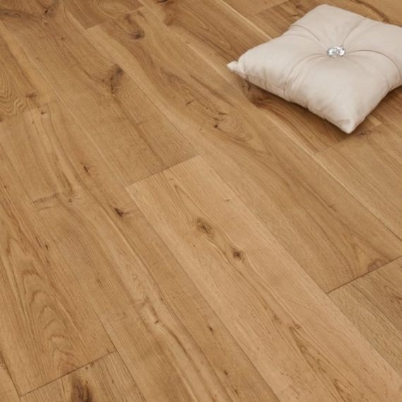 Cressington Elite Engineered Natural Oak Oiled 165mm x 20/6mm Wood Flooring