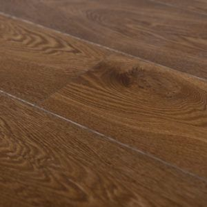 Edmonton Elite Solid Smoked Oak Brushed & Lacquered  150mm x 18mm Wood Flooring