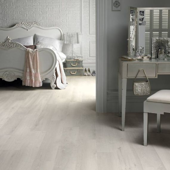 Hillingdon Engineered White Oak Brushed and Matt Lacquered Click Lok 189mm x 14/3mm Wood Flooring