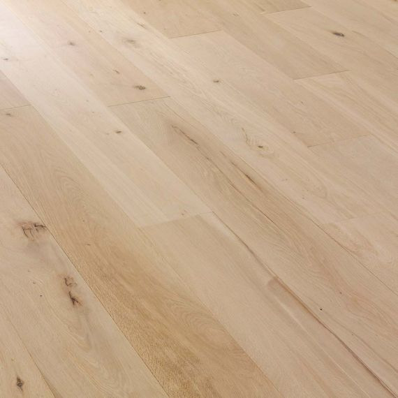 Highgate Elite Engineered Natural Oak Unfinished Click Lok 190mm x 14/3mm Wood Flooring