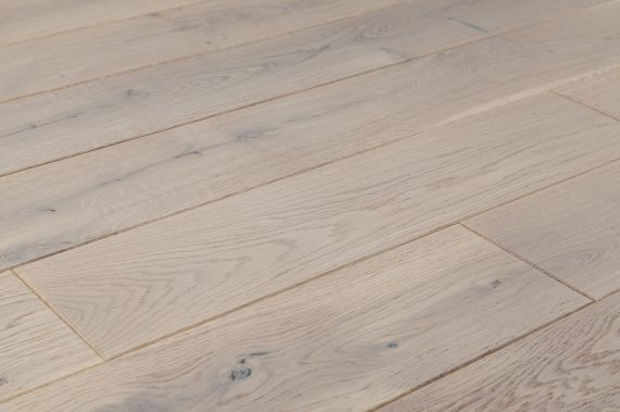 Cressington Engineered White Oak Brushed and Matt Lacquered Click Lok 189mm x 14/3mm Wood Flooring (Wooden Flooring)