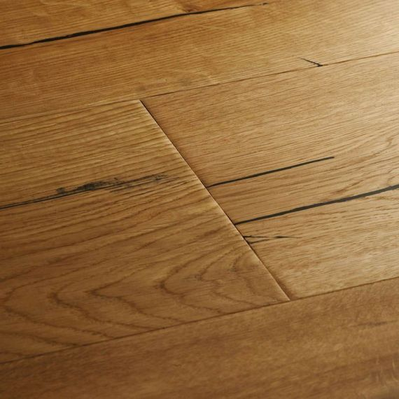 Highgate Engineered Natural Oak Oiled Distressed 190mm x 15/4mm Wood Flooring