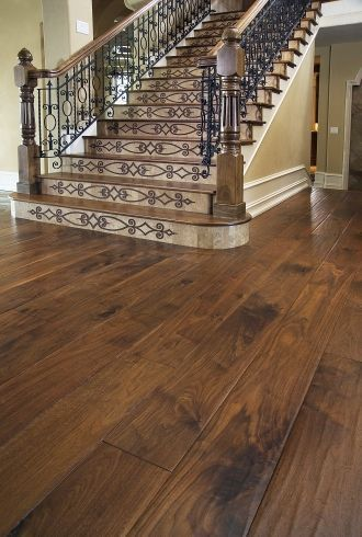 Fyfield Elite Engineered American Black Walnut 190mm x 20/6mm Wood Flooring (Wooden Flooring)