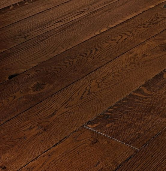 Highgate Elite Engineered Antique Distressed Oak 189mm x 20/6mm Wood Flooring