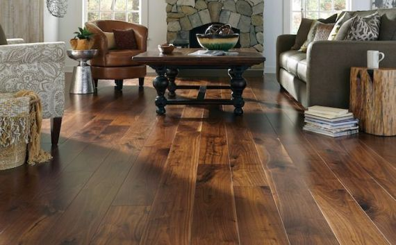 Fyfield Elite Engineered American Black Walnut Lacquered 220mm x 20/6mm Wood Flooring