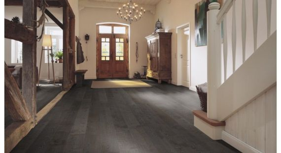 Meister PD400 Prem Cottage Silver Grey Oak High Gloss 180mm x 13/2.5mm Wood Flooring (Wooden Flooring)