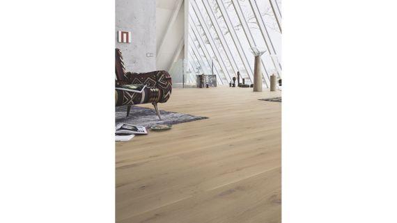 Meister PD200 Classic Parquet Cream Oak Matt Lacquered 180mm x 13/2.5mm Wood Flooring (Wooden Flooring)