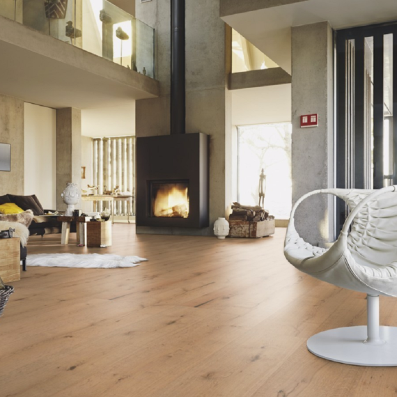 Meister HD300 Lindura Cafe Latte Rustic Oak Brushed & Oiled 270mm x 11/0.6mm Wood Flooring (Wooden Flooring)