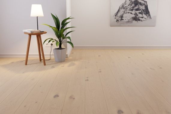 Meister PD200 Longlife Off-White Oak Brushed & Oiled 180mm x 13/2.5mm Engineered Parquet Wood Flooring (Wooden Flooring)
