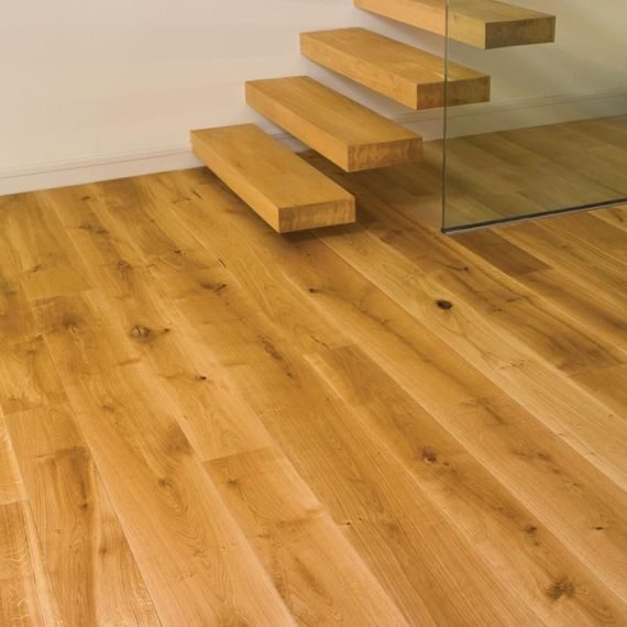 Twickenham Solid Natural Oak Brushed and Oiled 90mm x 18mm Wood Flooring (Wooden Flooring)