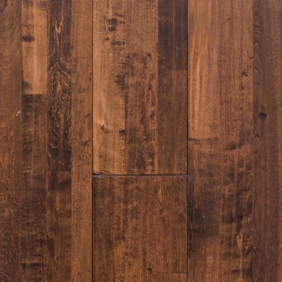 Twickenham Elite Solid Oak Coffee Handscraped 203mm X 18mm Wood Flooring (Wooden Flooring)