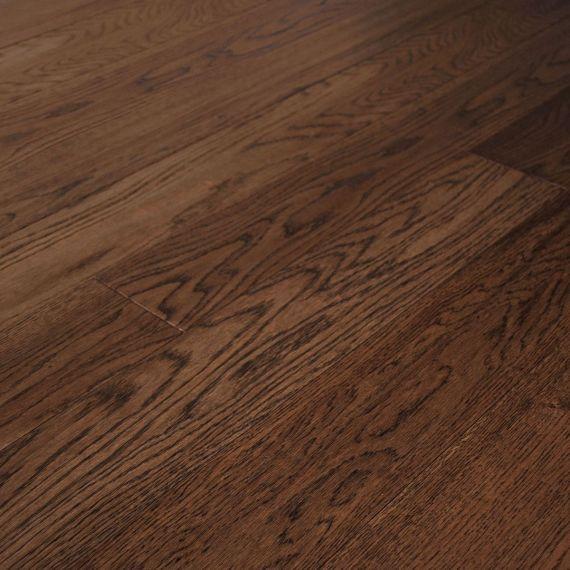 Edmonton Solid Smoked Oak Handscraped 203mm x 18mm Wood Flooring