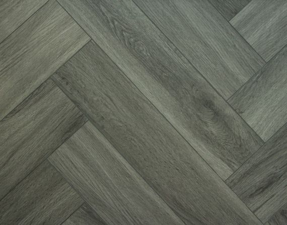 Highgate Luxury Vinyl Black Rigid Core Herringbone 123mm x 5/0.55mm LVT Flooring