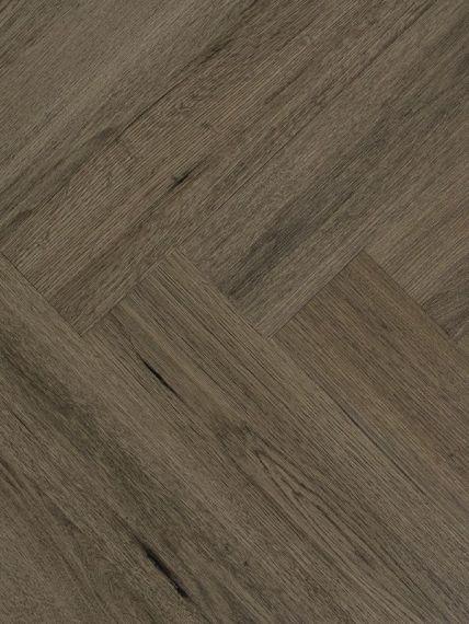 Highgate Luxury Vinyl Dark Grey Rigid Core Herringbone 123mm x 5/0.55mm LVT Flooring