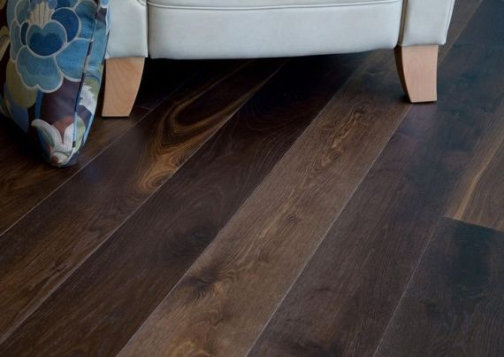 Richmond Engineered Deep Smoked Oak Brushed & Oiled 190mm x 14/3mm Wood Flooring (Wooden Flooring)