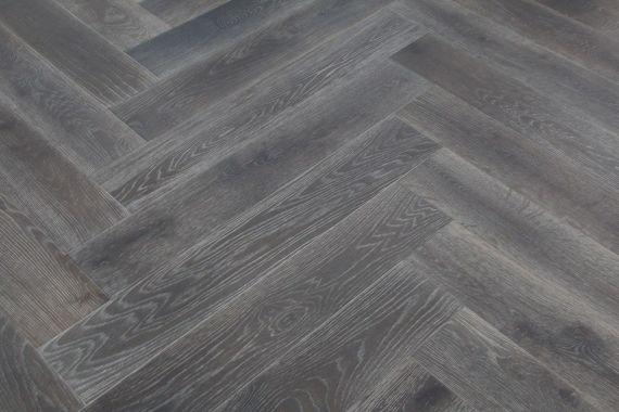 Sawbury Engineered Smoked Oak Brushed and Grey Oiled 150mm x 14/3mm Parquet Wood Flooring (Wooden Flooring)