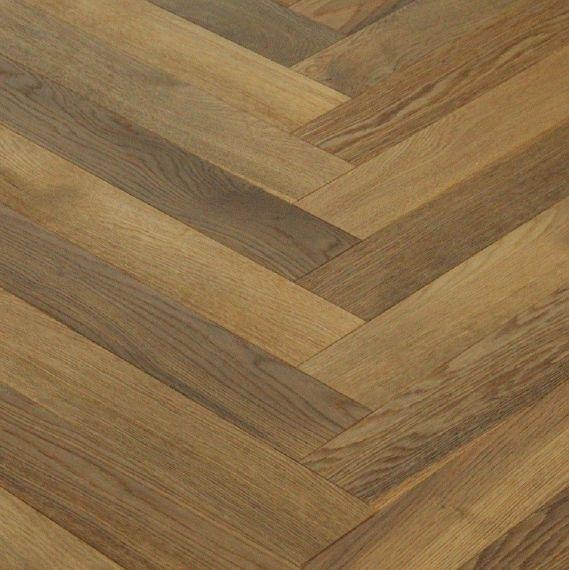 Sawbury Elite Engineered Coffee Oak Oiled 120mm x 15/4mm Parquet Wood Flooring (Wooden Flooring)