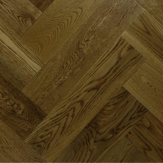 Sawbury Engineered Golden Oak Brushed and Matt Lacquered 125mm x 15/4mm Parquet Wood Flooring