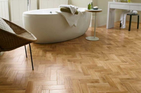 Sawbury Engineered Natural Oak Lacquered Click Lok 150mm x 14/3mm Parquet Wood Flooring
