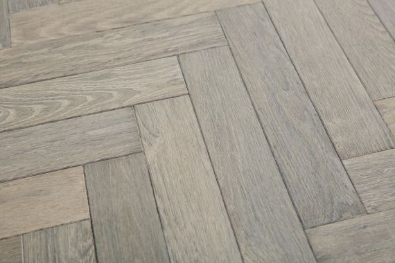 Sawbury Engineered Whitewash Oak Brushed and Lacquered Click Lok 150mm x 14/3mm Parquet Wood Flooring
