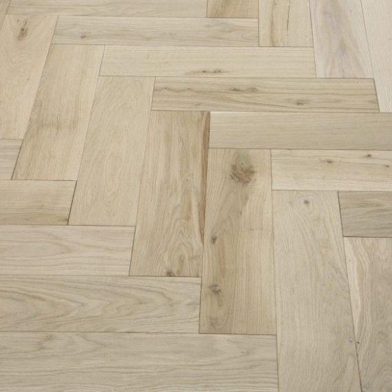 Sawbury Engineered Unfinished Oak 90mm x 18/4mm Parquet Wood Flooring (Wooden Flooring)