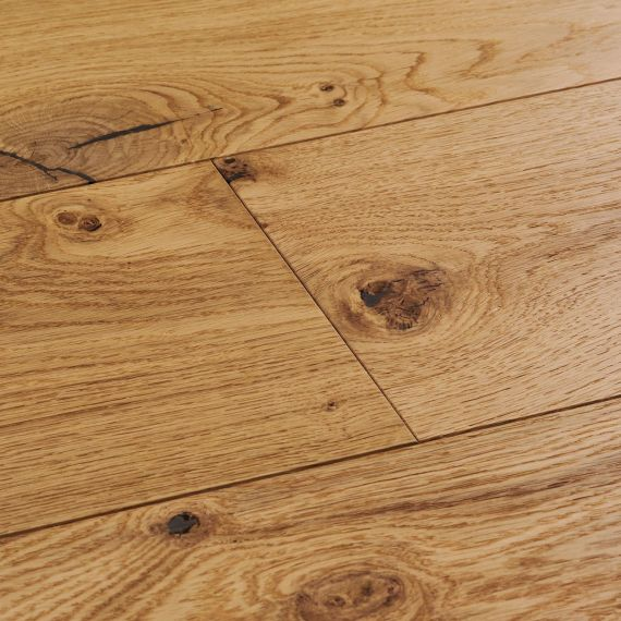 Cressington Engineered Natural Oak Lacquered Click Lok 180mm x 14/2.5mm Wood Flooring (Wooden Flooring)