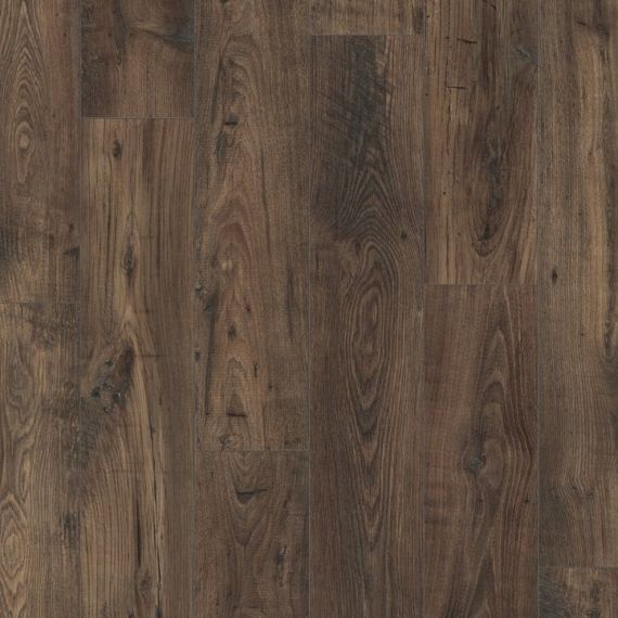 Quickstep Reclaimed Chestnut Brown 8mm Eligna Wide Laminate Flooring (Wooden Flooring)