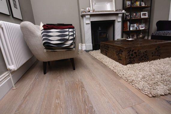Hillingdon Engineered Smoked Oak Whitewashed Brushed and Oiled 150mm x 18/4mm Wood Flooring