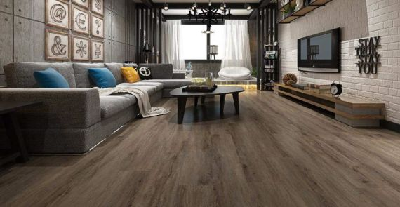Hillingdon Luxury Vinyl Antique Smoke White 178mm x 6.5/0.5mm LVT Flooring (Wooden Flooring)