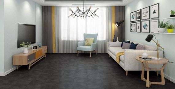 Hillingdon Luxury Vinyl Spanish Grey 300mm x 6.5/0.5mm LVT Flooring (Wooden Flooring)