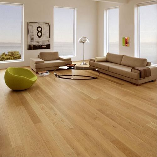 Milano Solid Natural Oak Lacquered **PRIME** 110mm x 18mm Wood Flooring (Wooden Flooring)