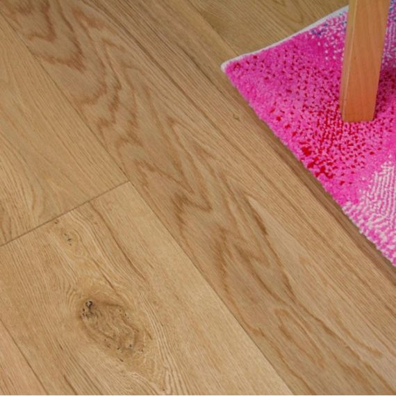 Milano Engineered Natural Oak Lacquered 120mm x 10/4mm Wood Flooring