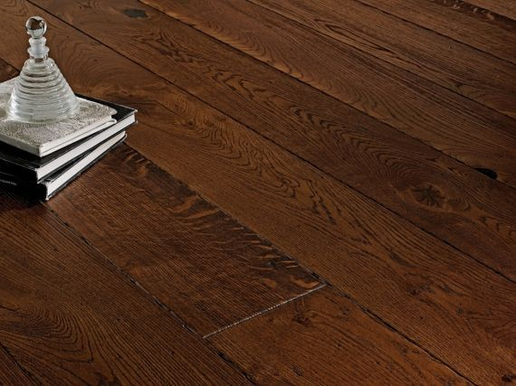 Highgate Engineered Coffee Antique Oak Brushed & Lacquered 120mm x 14/3mm Wood Flooring
