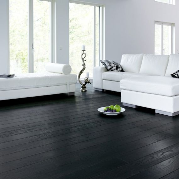 Henley Engineered Black Oak Brushed & Lacquered 120mm x 18/5mm Wood Flooring