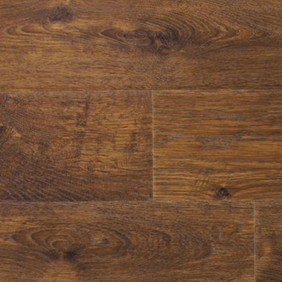 Glanwell Engineered Coffee Oak Brushed and Lacquered Click Lok 130mm x 14/3mm Wood Flooring (Wooden Flooring)