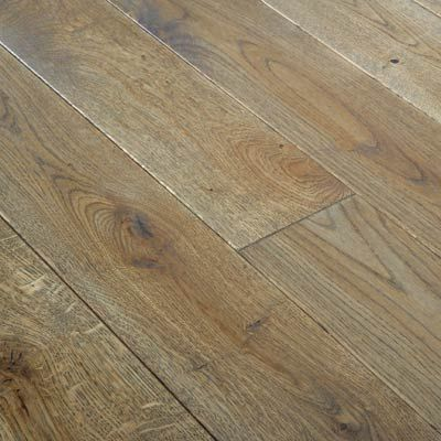 Glanwell Engineered Smoked Oak Brushed and Lacquered Click Lok 130mm x 14/3mm Wood Flooring (Wooden Flooring)