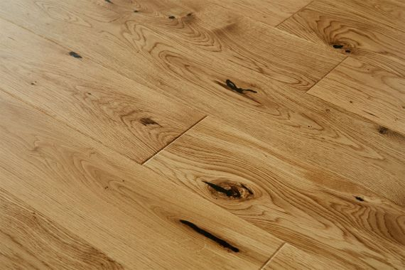 Glanwell Engineered Natural Oak Rustic Aged Brushed & Oiled 125mm x 18/5mm Wood Flooring (Wooden Flooring)