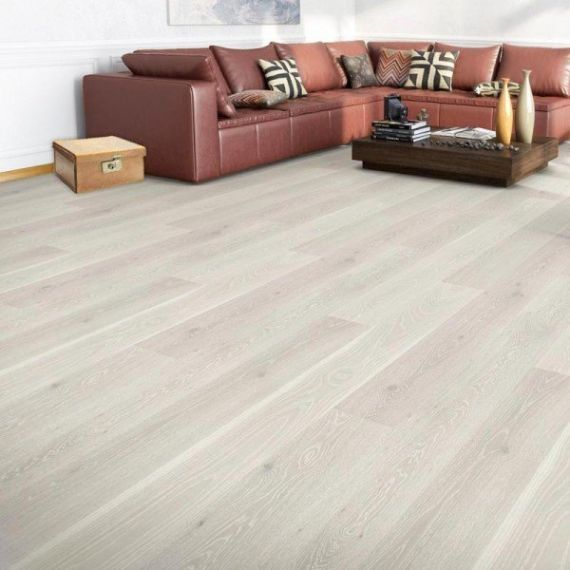 alder Engineered White Oak Brushed and Lacquered 150mm x 20/6mm Wood Flooring (Wooden Flooring)