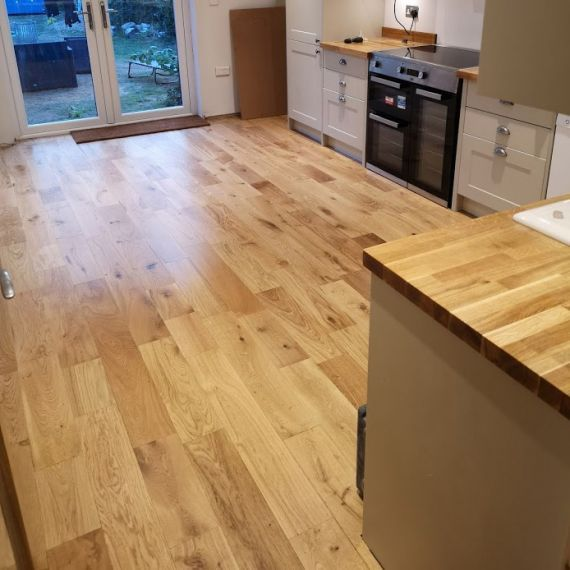 Calder Engineered Natural Oak Lacquered 150mm x 14/3mm Wood Flooring (Wooden Flooring)