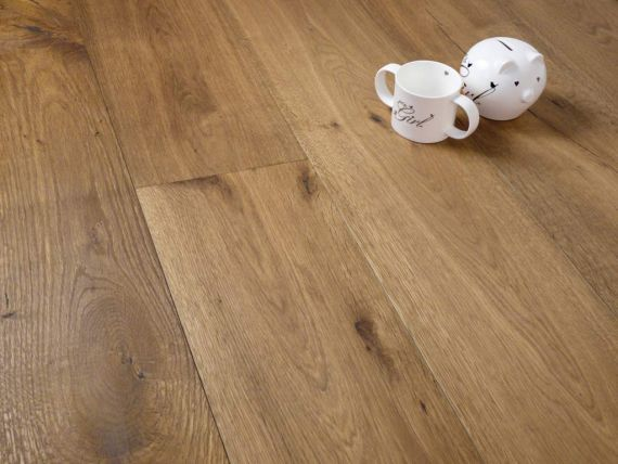 Edmonton Engineered Smoked Oak Brushed and Oiled 150mm x 14/3mm Wood Flooring (Wooden Flooring)
